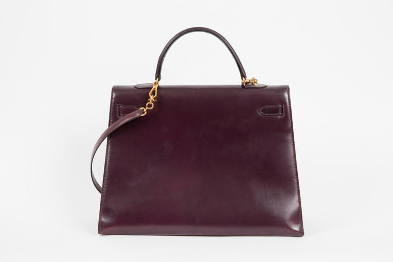 Hermes Kelly 35cm Cherry Boxcalf     For Sale 2