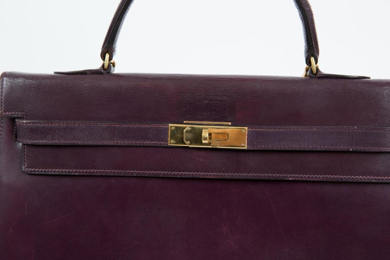 Hermes Kelly 35cm Cherry Boxcalf     For Sale 3