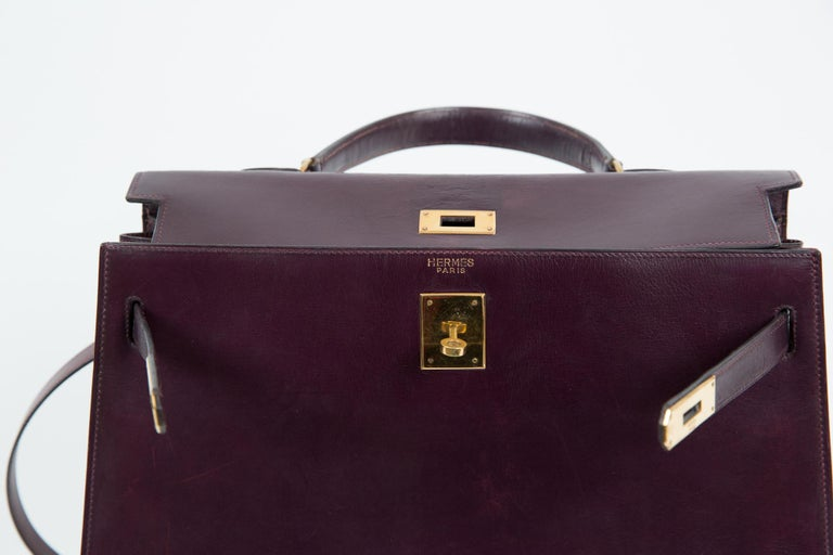 Hermes Kelly 35cm Cherry Boxcalf     For Sale 4