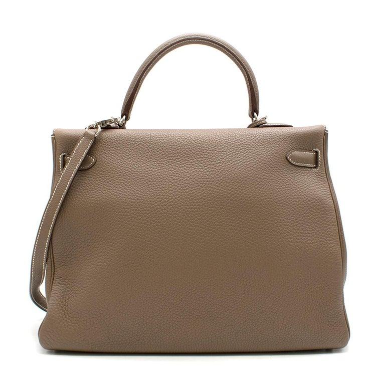 Women's Hermes Kelly 35cm Etoupe Togo leather bag For Sale