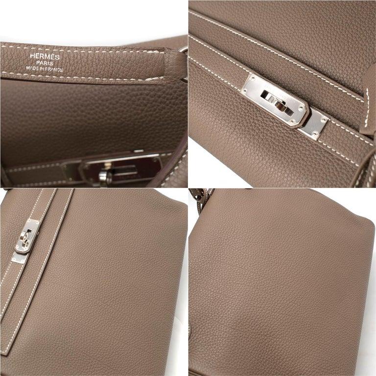 Hermes Kelly 35cm Etoupe Togo leather bag For Sale 5