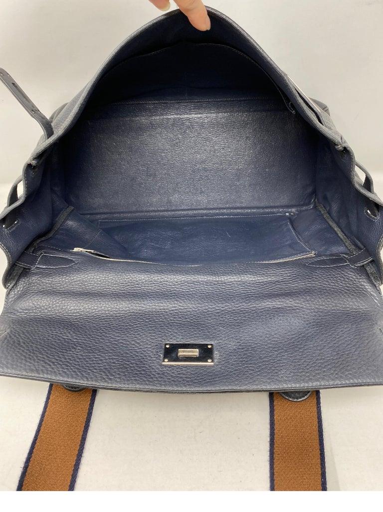 Hermes Kelly 40 Blue Indigo Bag For Sale 6