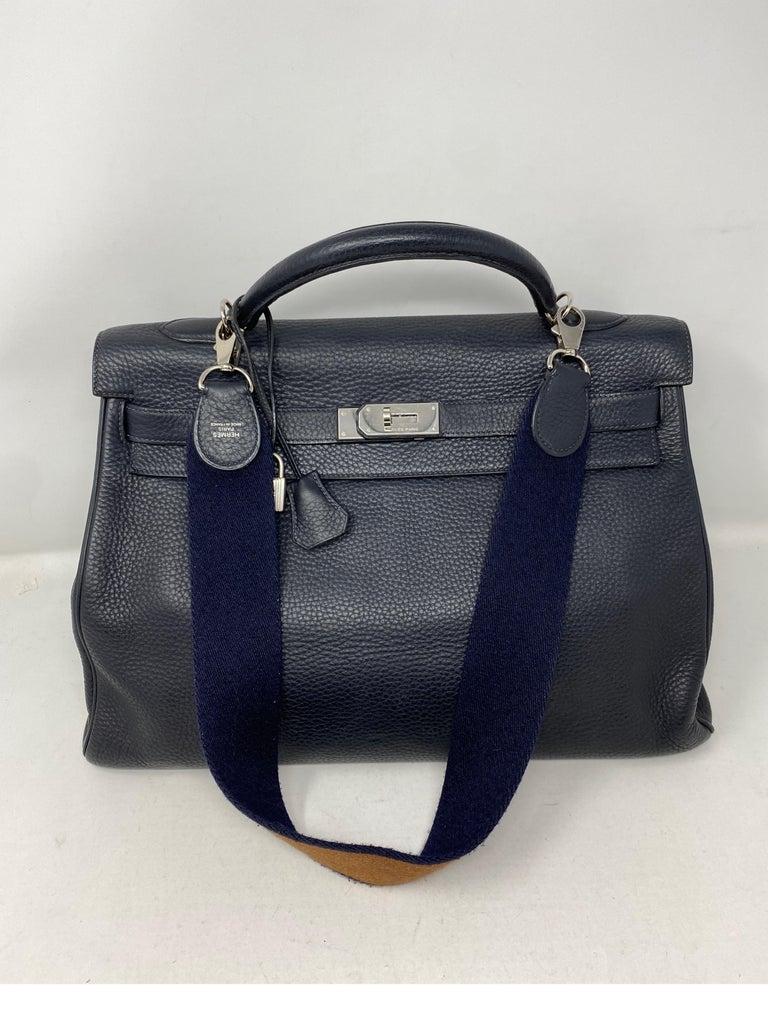 Hermes Kelly 40 Blue Indigo Bag For Sale 8