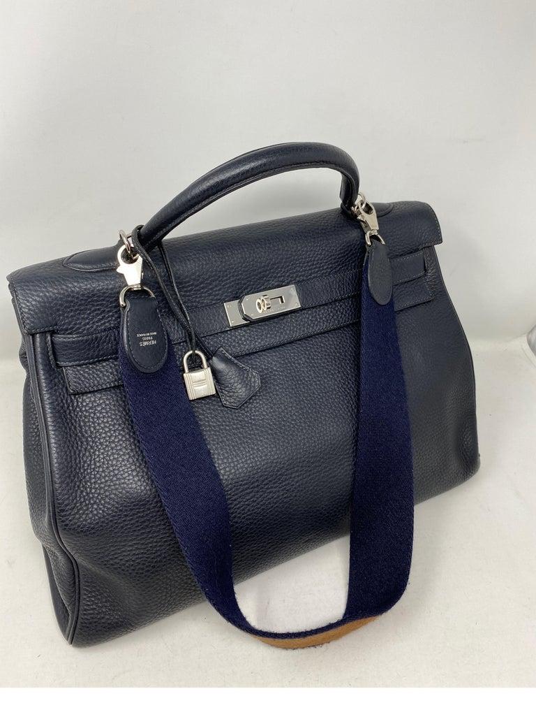 Hermes Kelly 40 Blue Indigo Bag For Sale 9