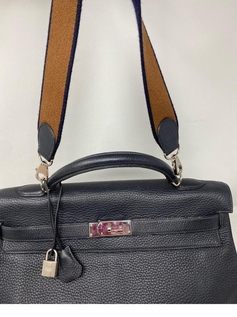 Hermes Kelly 40 Blue Indigo Bag For Sale 10