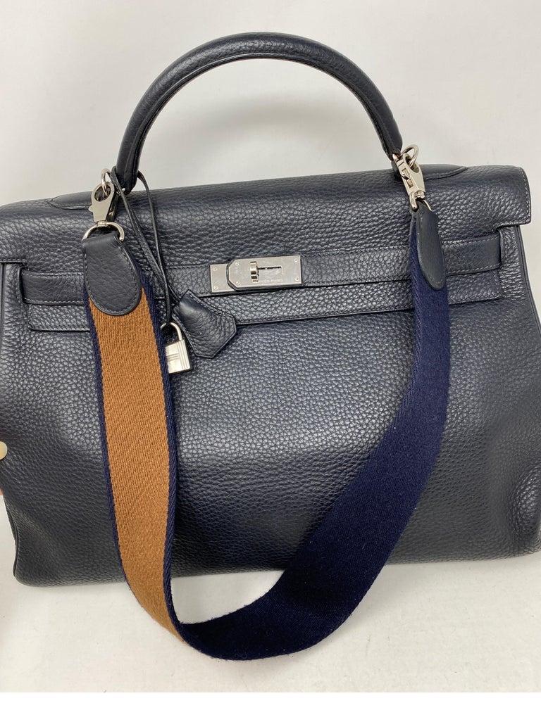 Hermes Kelly 40 Blue Indigo Bag For Sale 11