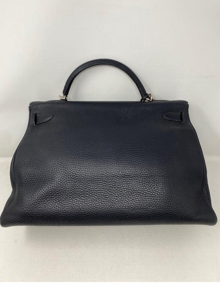 Hermes Kelly 40 Blue Indigo Bag For Sale 12