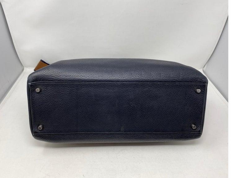 Hermes Kelly 40 Blue Indigo Bag For Sale 13