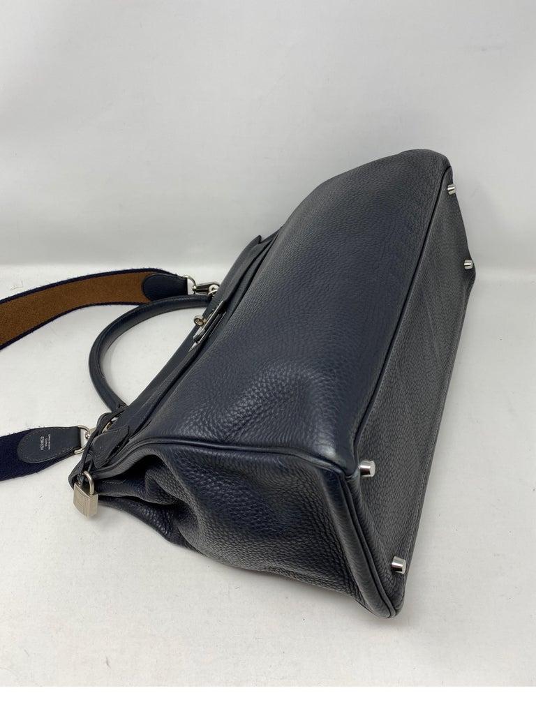 Hermes Kelly 40 Blue Indigo Bag For Sale 14