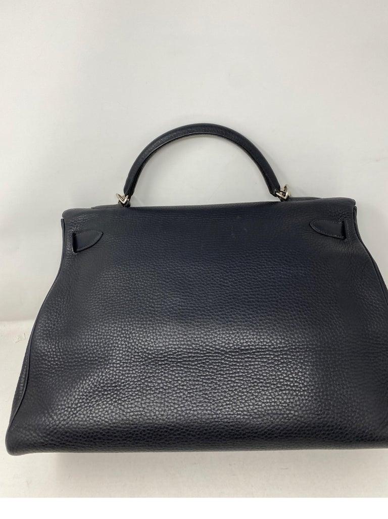 Women's or Men's Hermes Kelly 40 Blue Indigo Bag For Sale