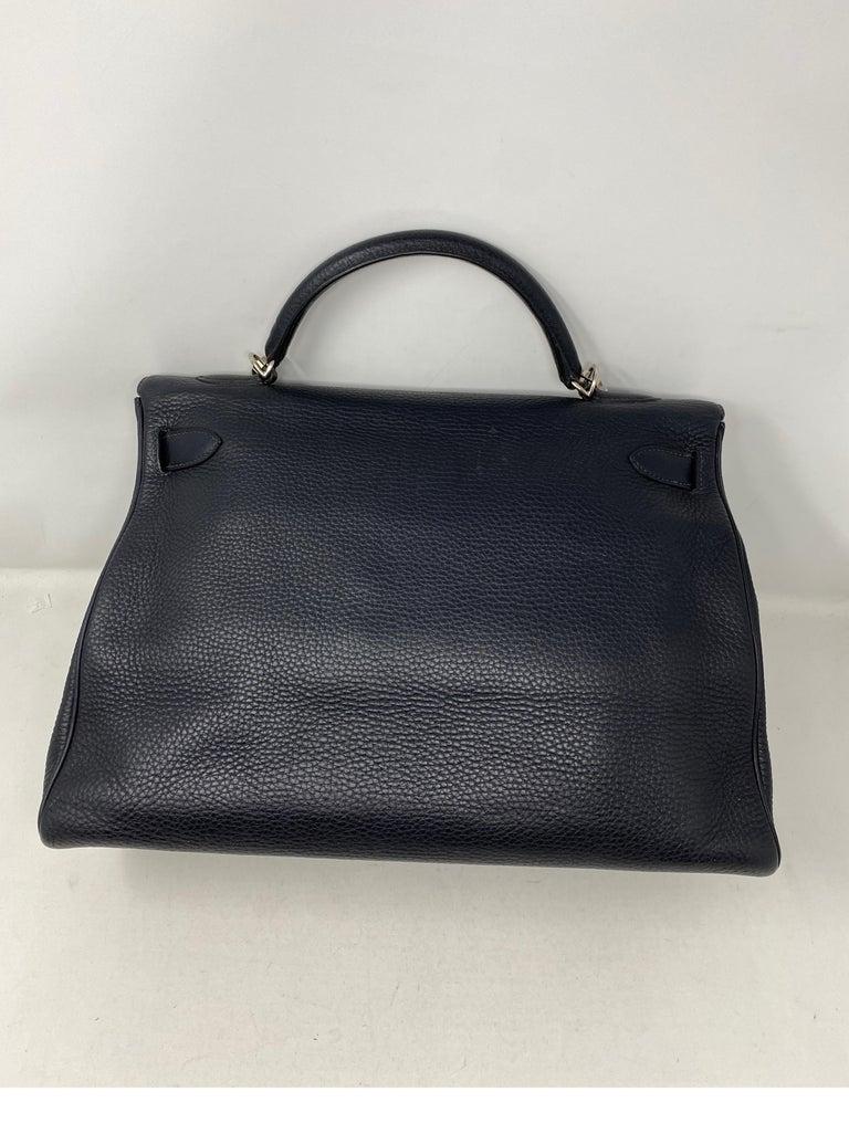 Hermes Kelly 40 Blue Indigo Bag For Sale 1