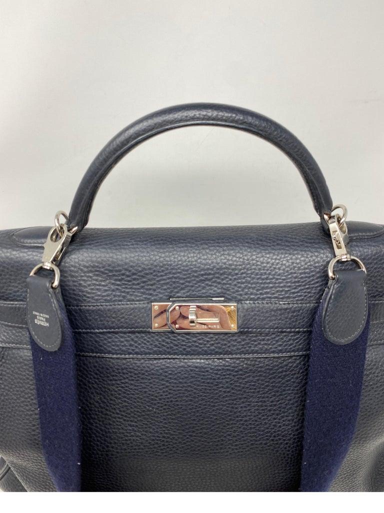 Hermes Kelly 40 Blue Indigo Bag For Sale 2