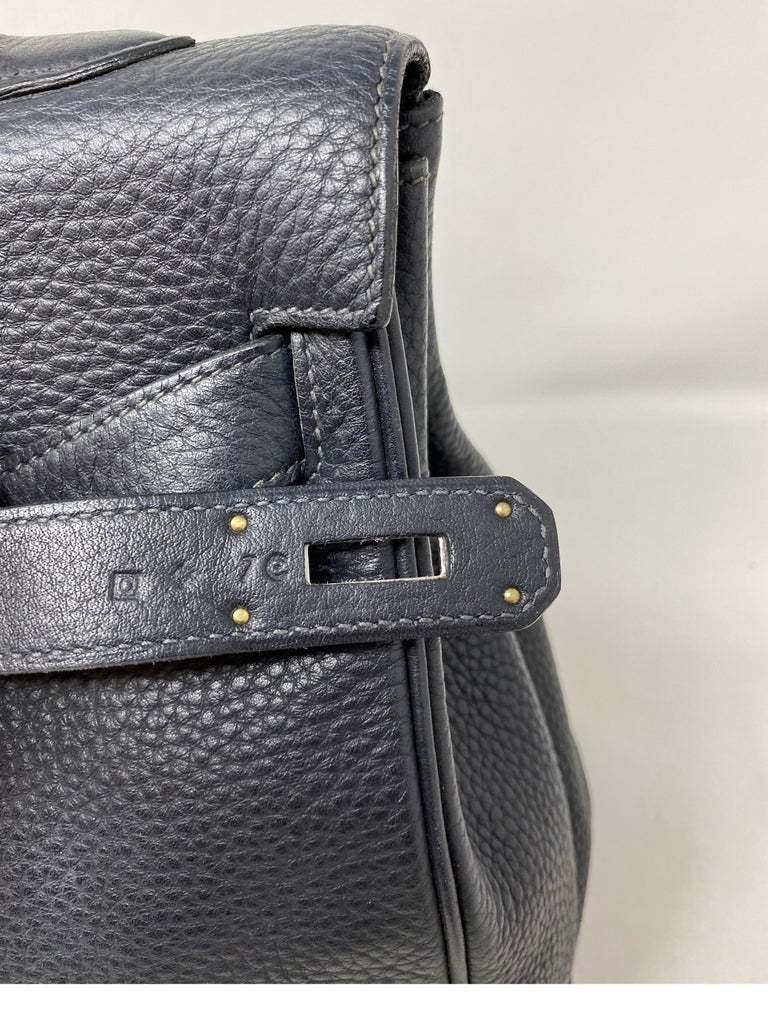 Hermes Kelly 40 Blue Indigo Bag For Sale 3