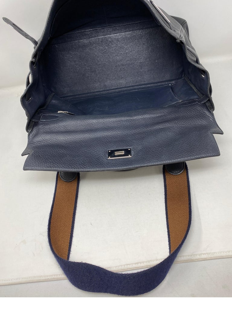 Hermes Kelly 40 Blue Indigo Bag For Sale 4
