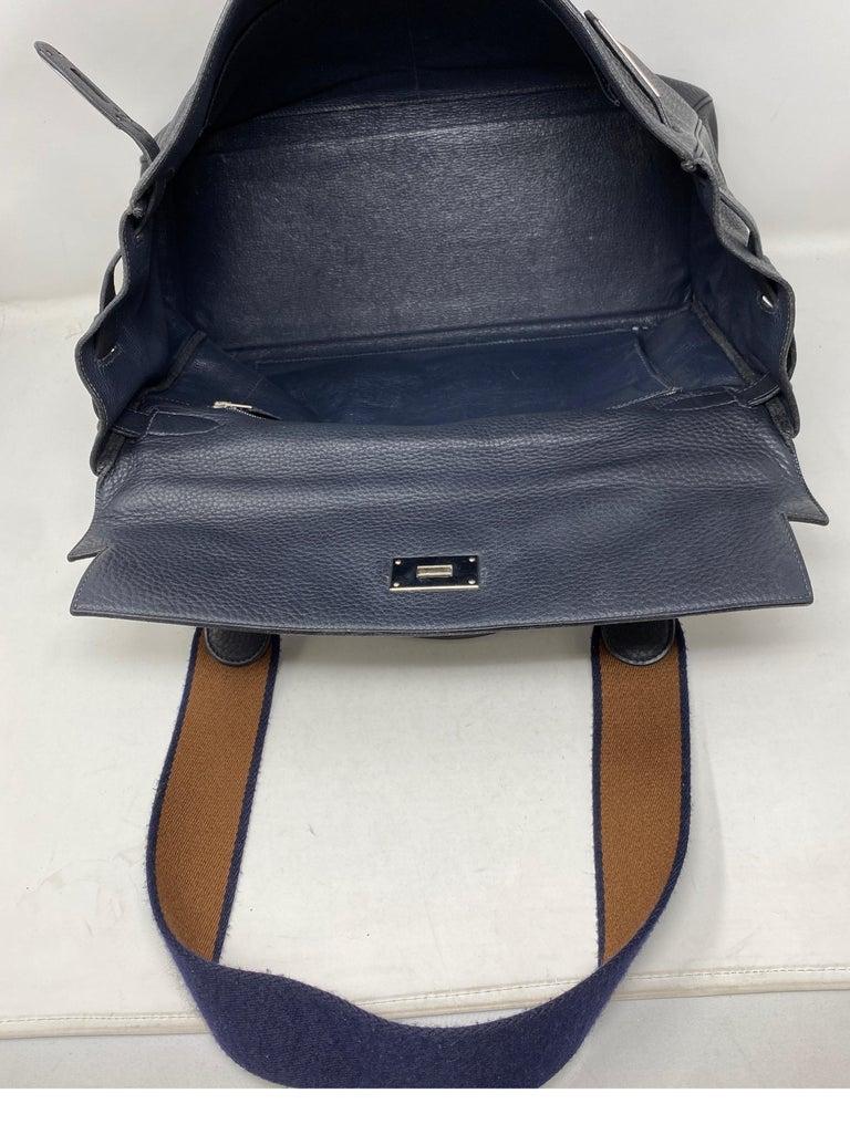 Hermes Kelly 40 Blue Indigo Bag For Sale 5