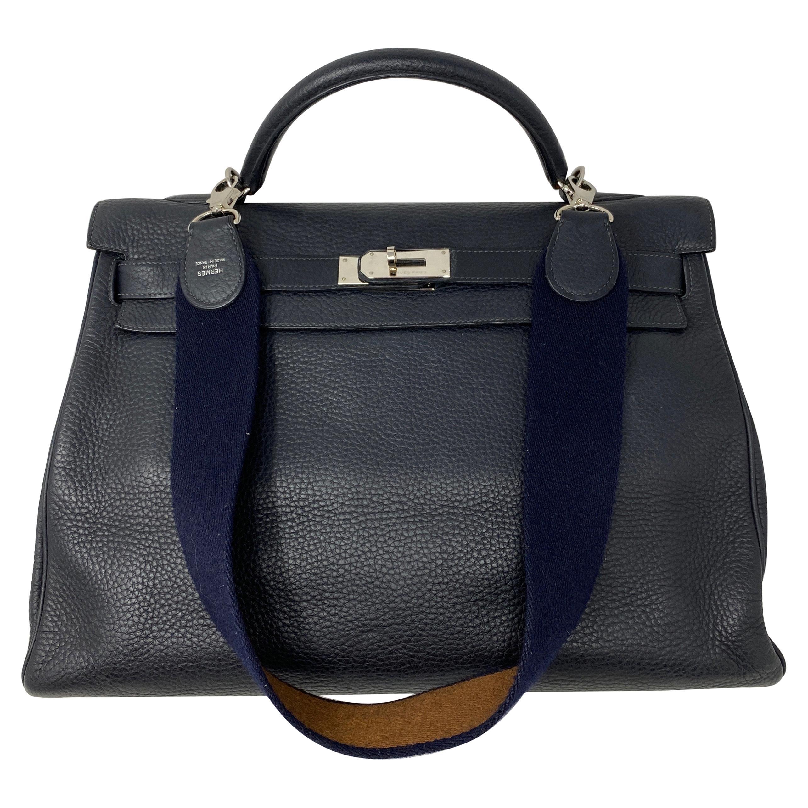 Hermes Kelly 40 Blue Indigo Bag