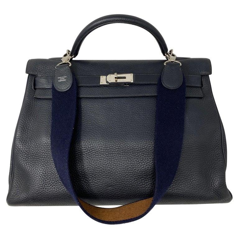 Hermes Kelly 40 Blue Indigo Bag For Sale