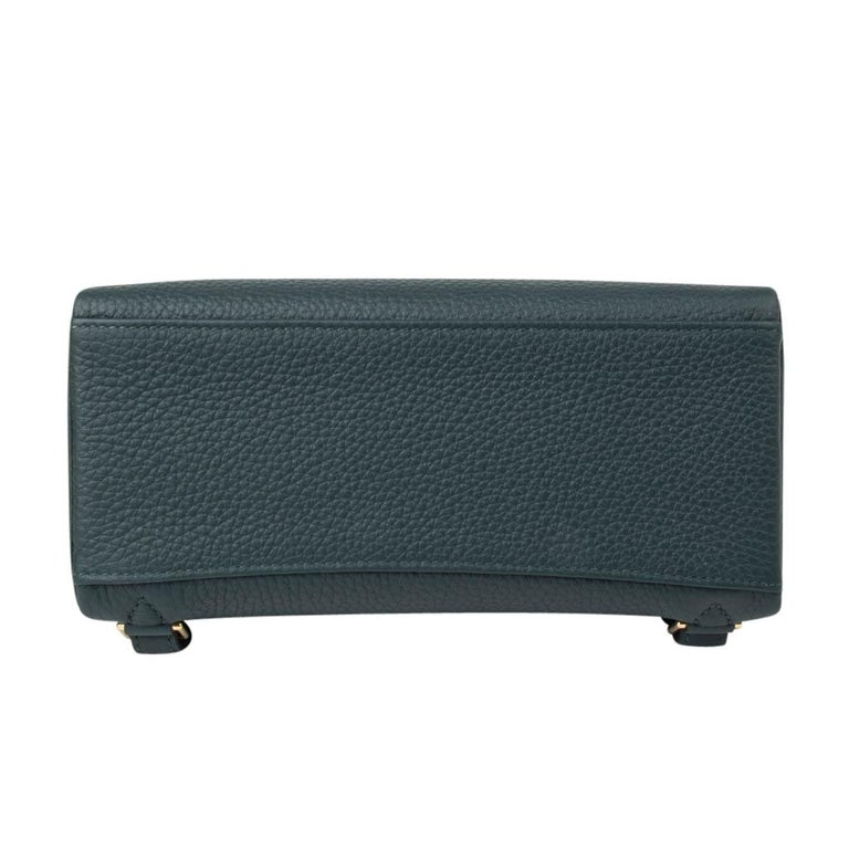 Hermes Kelly Ado II Backpack Vert Cypress Gold Hardware New For Sale 5