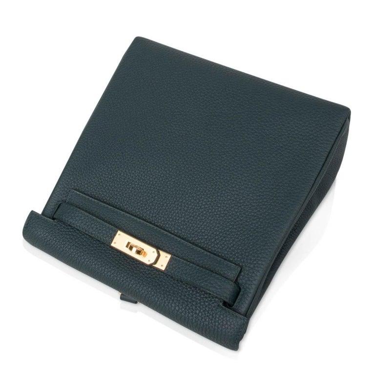 Women's Hermes Kelly Ado II Backpack Vert Cypress Gold Hardware New For Sale