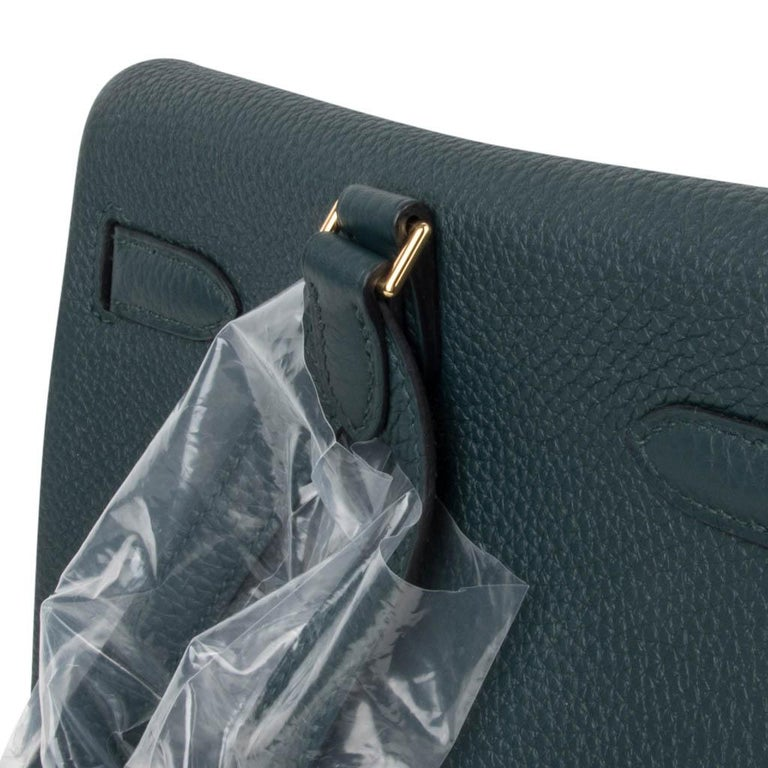 Hermes Kelly Ado II Backpack Vert Cypress Gold Hardware New For Sale 4
