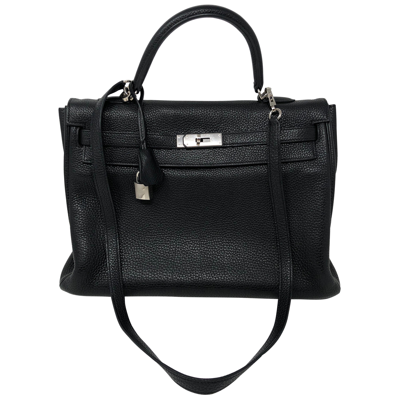 Hermes Kelly Black 35 Bag