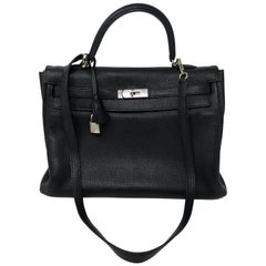 Hermes Kelly Black 35 Bag
