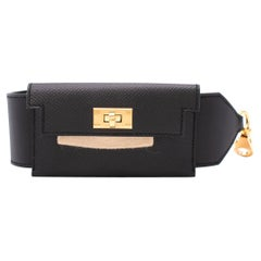 Hermes Kelly Black Leather Pocket Strap - Colour Sold Out/Rare - Us size 6