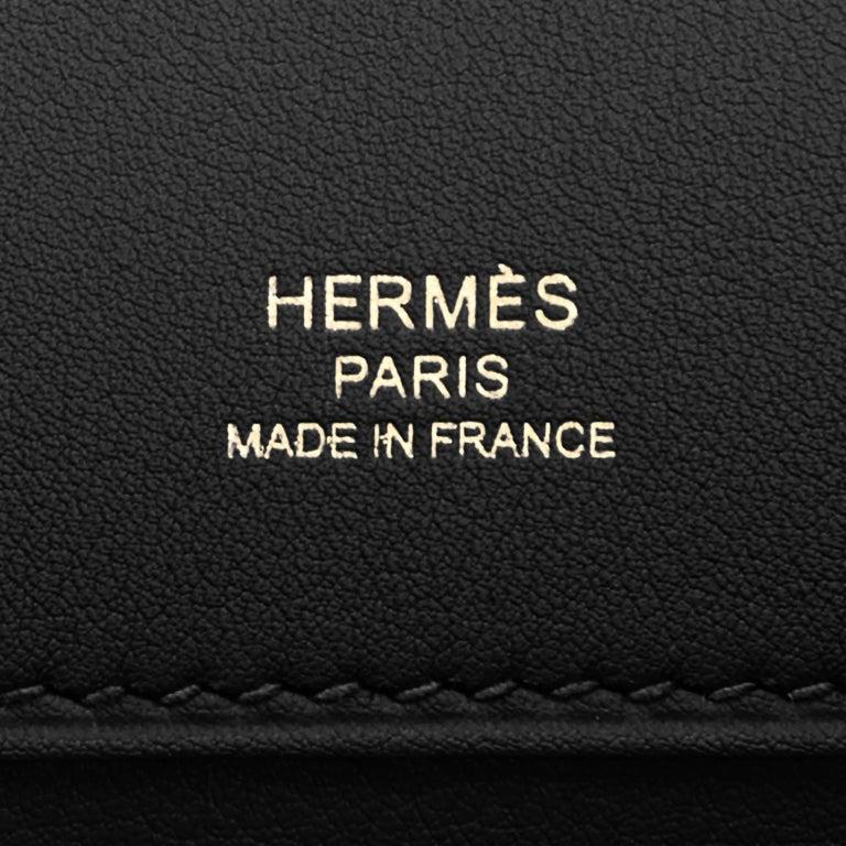 Hermes Kelly Cut Black Clutch Pochette Swift Gold Hardware D Stamp, 2019 For Sale 2