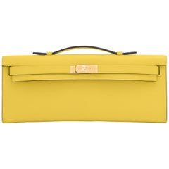 Hermes Kelly Cut Lime Swift Gold Hardware Y Stamp, 2020