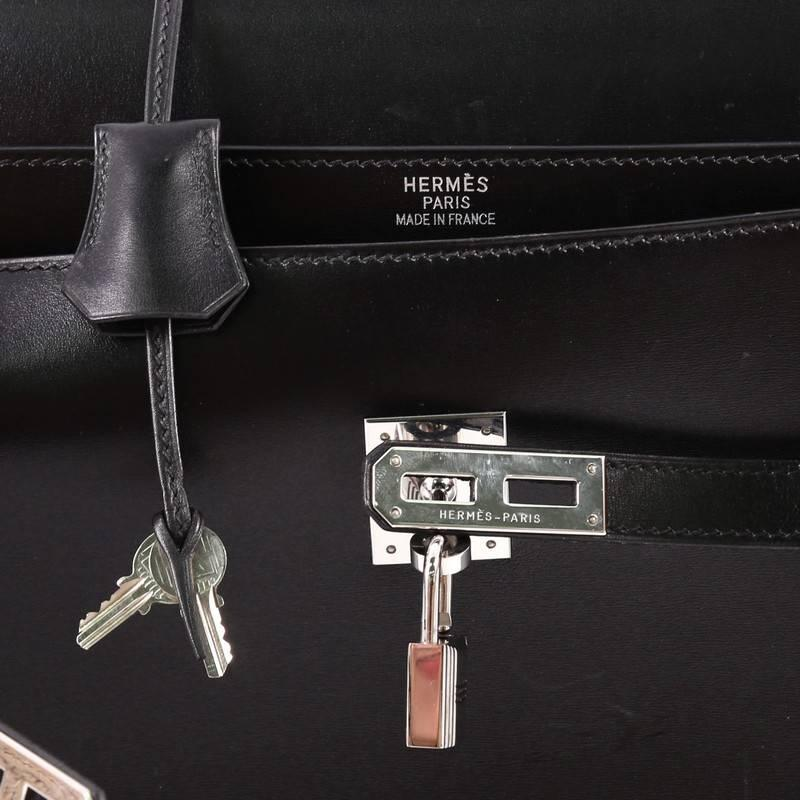 b62c3ecb370 ... official store hermes kelly depeche handbag box calf 38 for sale 1  008ba a3978 ...