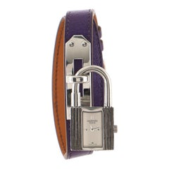 Hermes Kelly Double Tour Quartz Watch Plated Metal and Leather
