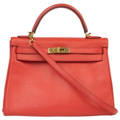 Hermès, Kelly evercolour in red leather