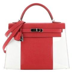 Hermes Kelly Flag Handbag Epsom 32