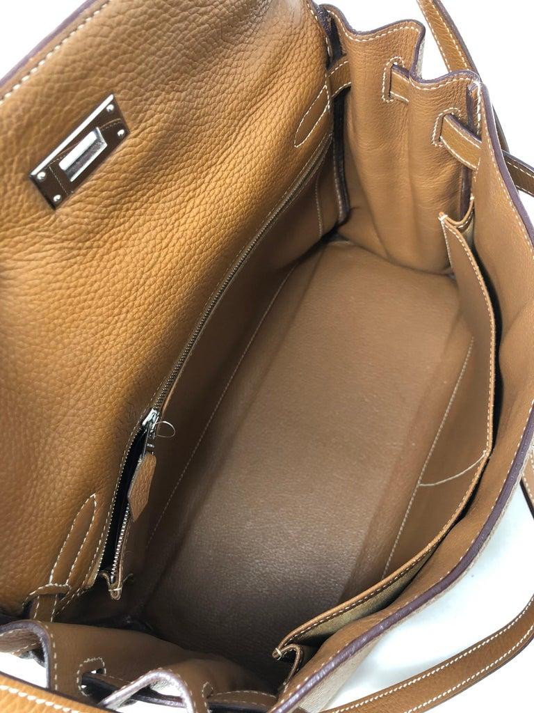 Hermes Kelly Gold 32 Bag For Sale 5