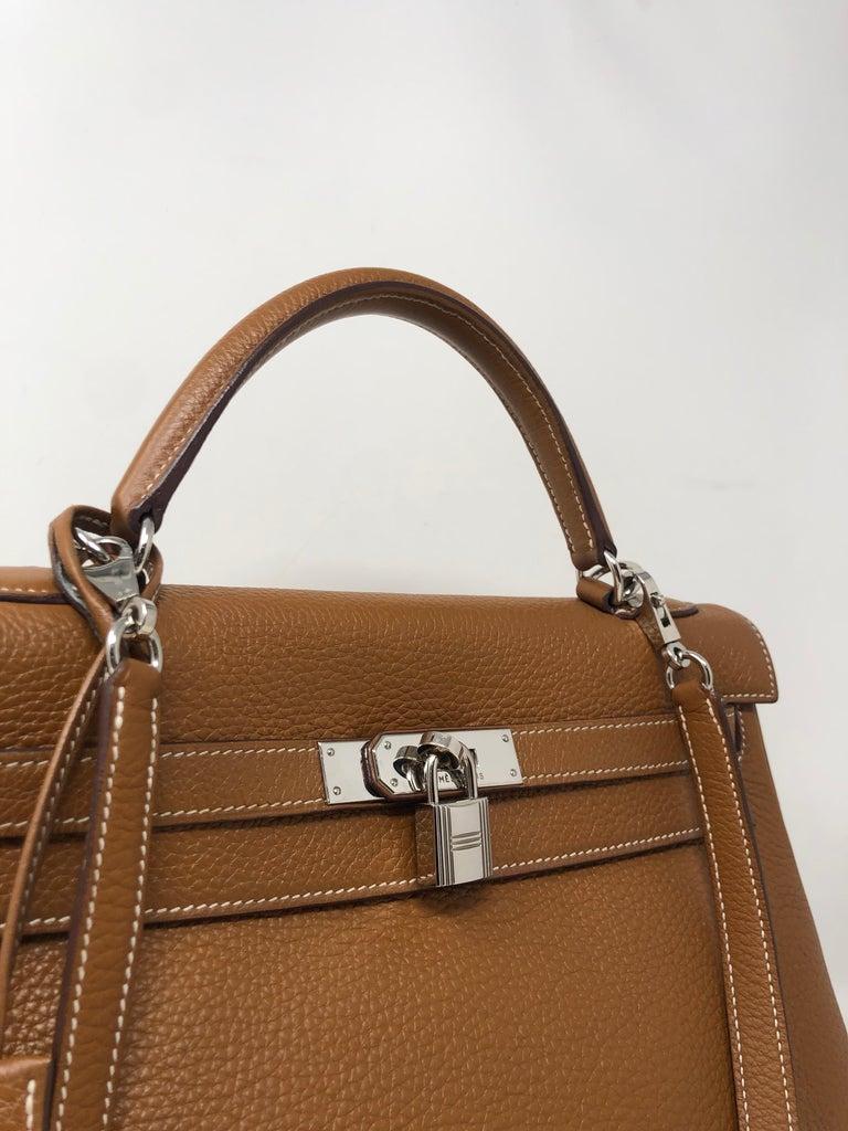 Brown Hermes Kelly Gold 32 Bag For Sale