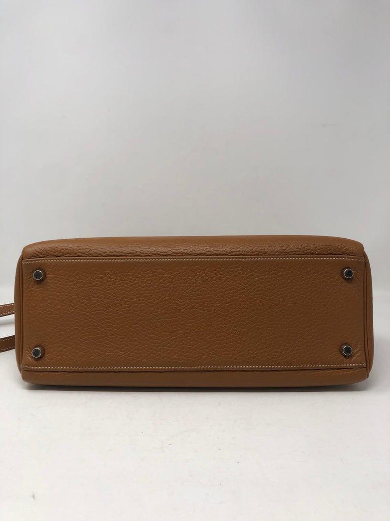 Hermes Kelly Gold 32 Bag For Sale 2