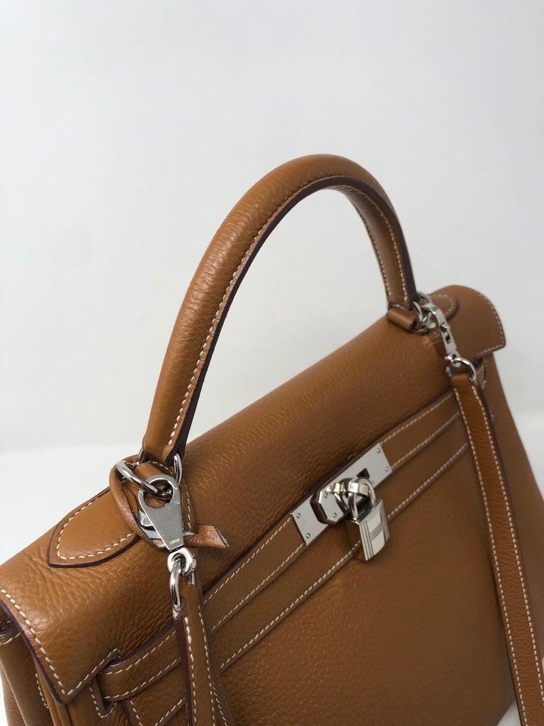 Hermes Kelly Gold 32 Bag For Sale 3