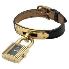 Hermès Kelly Gold Tone Ladies Wrist Watch