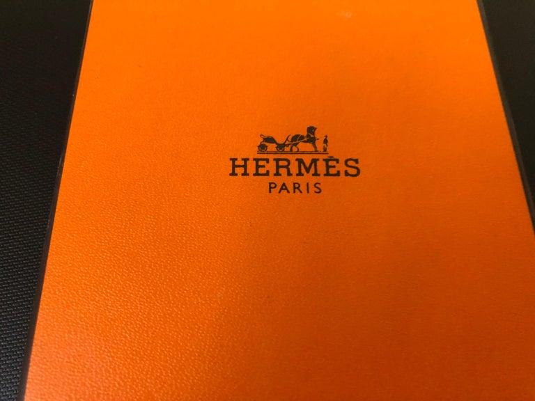 Hermes Kelly H Cadena Charm Lizard and Palladium Bangle w/Dust Bag and Box PM 65 For Sale 3