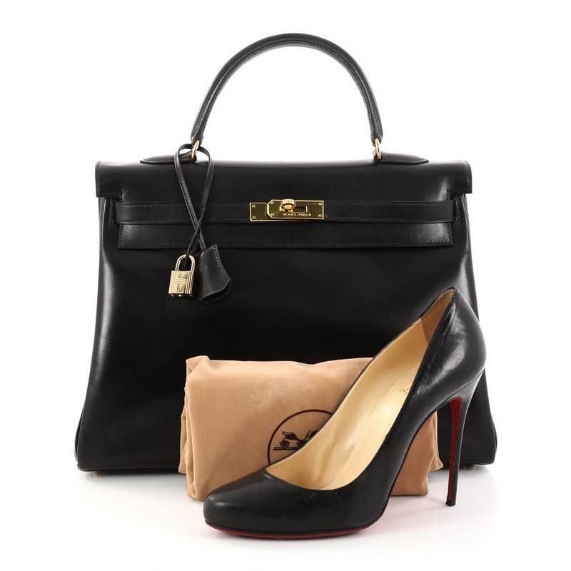 ... purchase this authentic hermes kelly handbag black box calf with gold  hardware 35 is inspired by f63af86787b