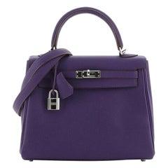 Hermes  Kelly Handbag Iris Togo with Palladium Hardware 25