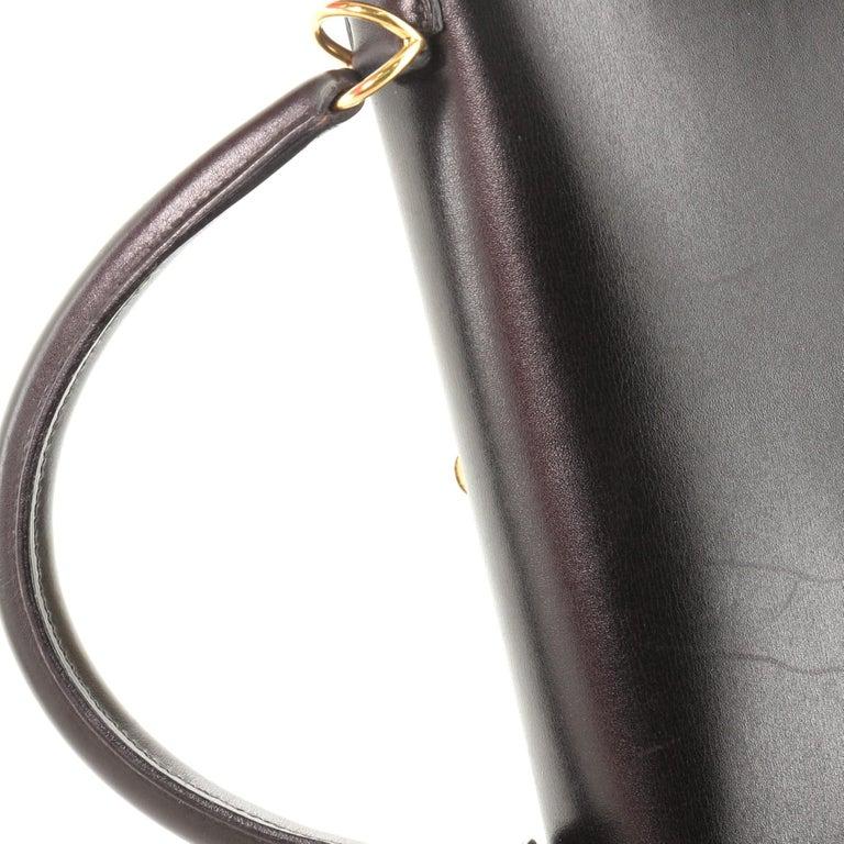 Hermes Kelly Handbag Noir Box Calf with Gold Hardware 32 For Sale 7