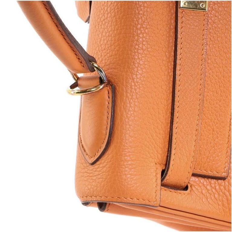 Hermes Kelly Handbag Orange H Clemence with Gold Hardware 32 For Sale 5