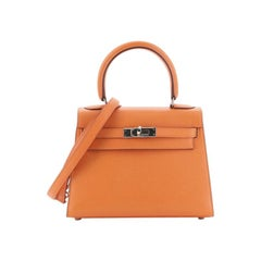 Hermes  Kelly Handbag Orange H Gulliver with Gold Hardware 20