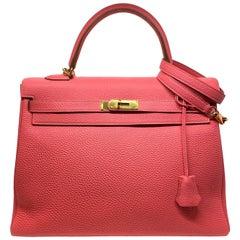 Hermès Kelly Handbag Rose Jaipur Togo Leather with Gold Hardware 35, 2013.