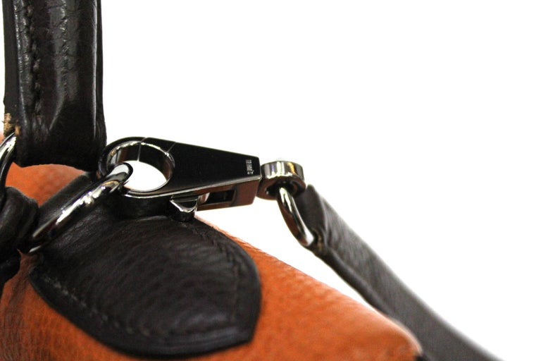 Hermes Kelly Handbag Tricolor Togo 32  In Excellent Condition For Sale In Torre Del Greco, IT