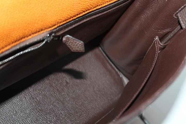 Hermes Kelly Handbag Tricolor Togo 32  For Sale 1