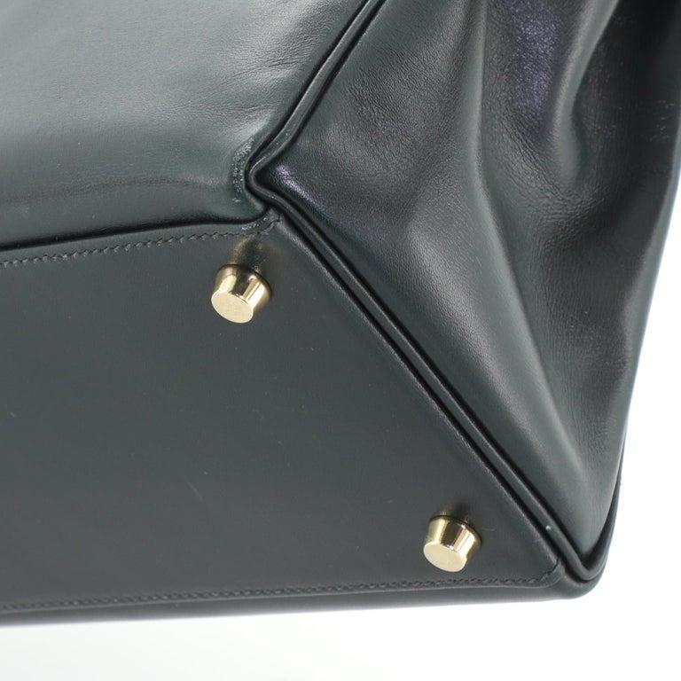 Hermes Kelly Handbag Vert Anglais Box Calf with Gold Hardware 32 For Sale 4