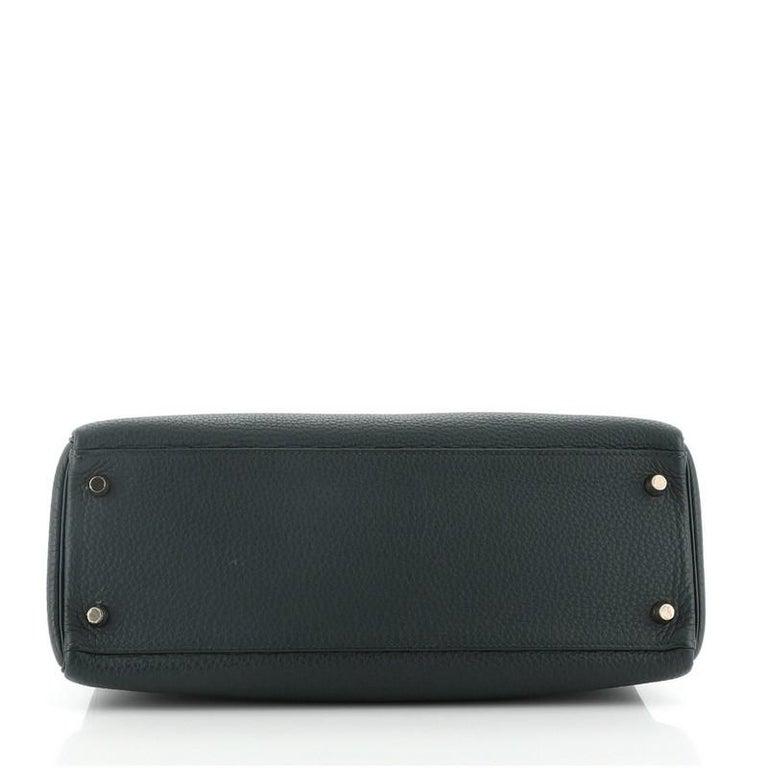 Hermes Kelly Handbag Vert Cypress Togo with Gold Hardware 32 For Sale 1