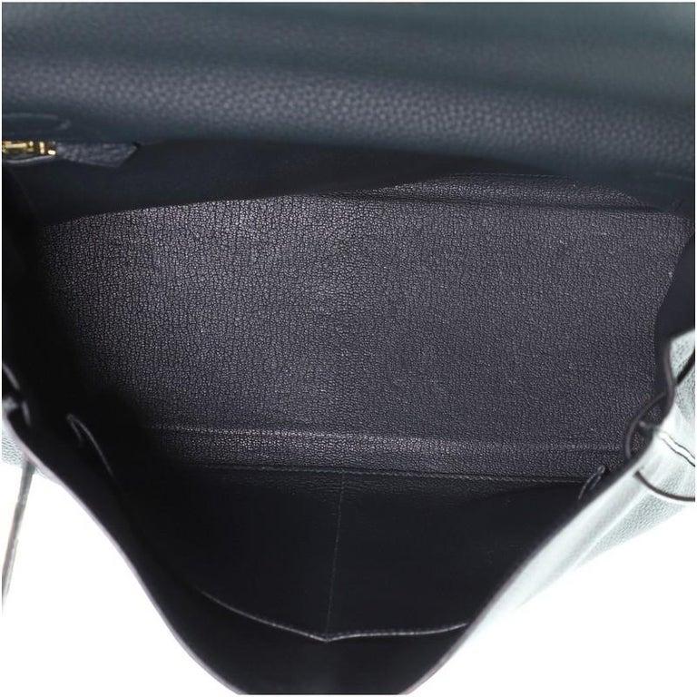 Hermes Kelly Handbag Vert Cypress Togo with Gold Hardware 32 For Sale 2